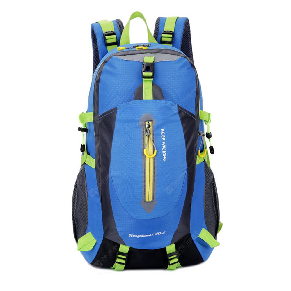 Lightweight Waterproof Solid Color Fashion Casual Backpack Color : Orange Outdoor Large-Capacity Sports Ladies Travel Leisure Mountaineering Bag
