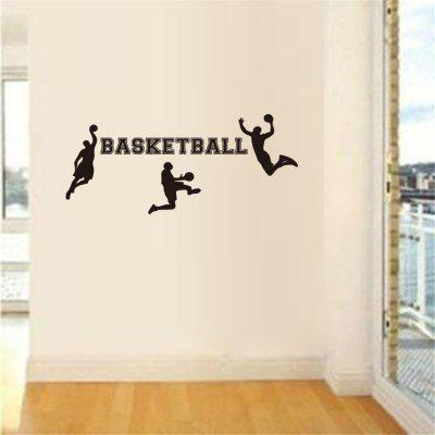 Basketball Character Sports Home Wall Decoration Removable Decorative Sticker