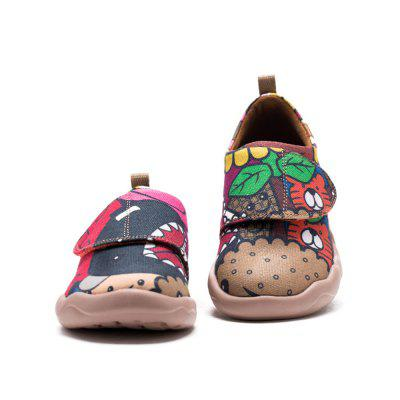UIN Kid's Painted girl Canvas Slip-On Fashion Travel Shoes Art Casual Shoes