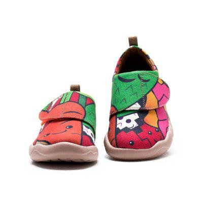 UIN Kid's Painted Carrot and his friends Canvas Slip-On Art Casual Shoes