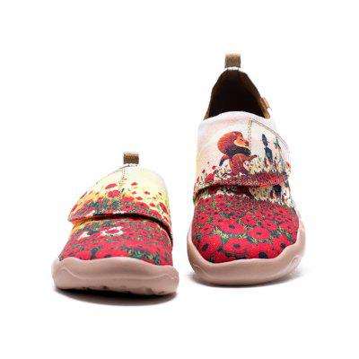 UIN Kid's Painted Flower Field Canvas Slip-On Fashion Travel Art Casual Shoes