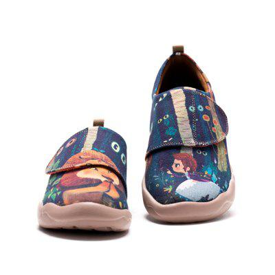 UIN Kid's Painted Cowardly Lion Canvas Slip-On Fashion Travel Art Casual Shoes
