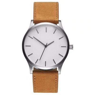 Moda męska Dial Sport Belt Quartz Watch