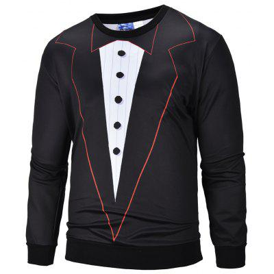 Men's Fashion Suits 3D Printed Round Neck Sweatershirt