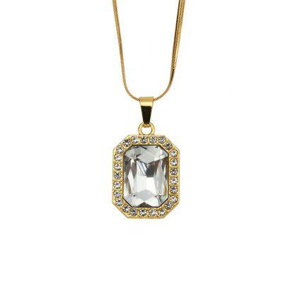 NYUK Men'S and Women'S Short Gem Style Necklace Accessories