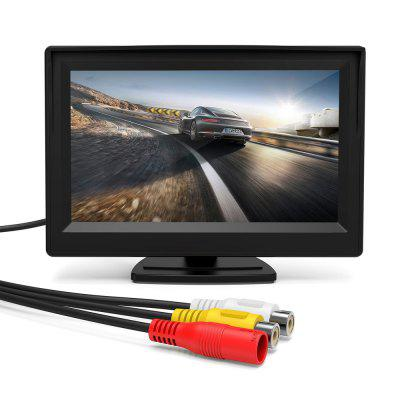Car Monitor 5 Inch Bidirectional AV Input Auto Display For Rear View Camera