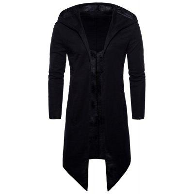 Men Hooded Cloak Long Coat