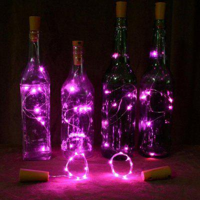 Solar Cork Shaped 8 LED Night Fairy String Light Wine Bottle Lamp 4PCS
