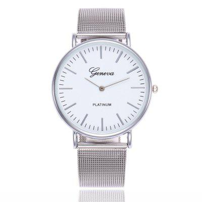 GENEVA Women Stainless Steel Mesh  Band Ultrathin Quartz Watch