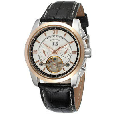 Forsining Men Fashion Leisure Tourbillon Week Date Automatic Mechanical Watch