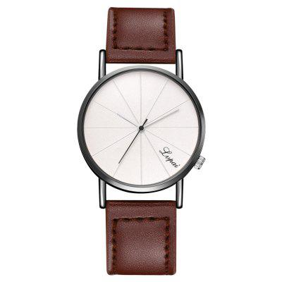 Man Watches Big Dial Delicate Belt Quartz Watch Business and Leisure Travelers