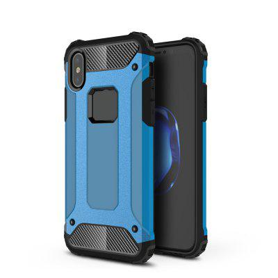 For iPhone X Soft Silicon Hard Plasticive Shockproof Armour Phone Shell