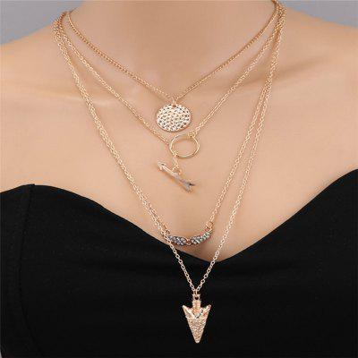 Fashion Lady Angel Wings Multi-Layer Necklace