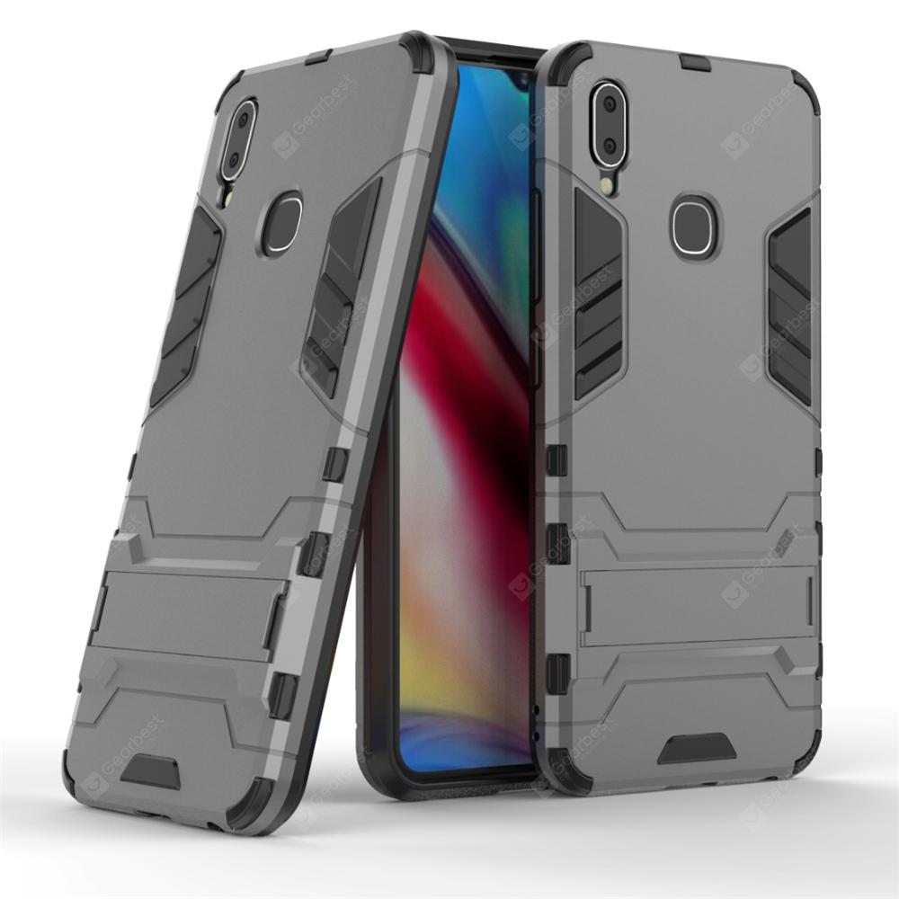 Armor Back Cover with Stand Solid Colored Hard for VIVO Y91 Y95