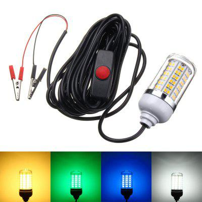 Fish Attraction Light 12V Underwater Light 15W 108 LED Bait Night Fishing Light
