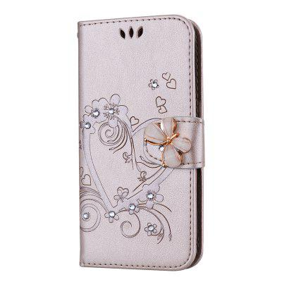 Luxury Diamond Butterfly Leather Wallet Case for Samsung Galaxy S6