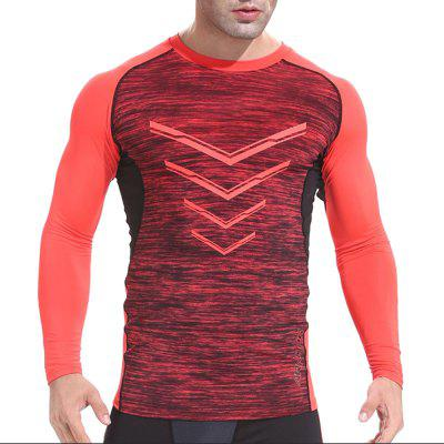 Men'S Autumn and Winter Basketball Running Tight Long Sleeve Stretch Gym Clothes