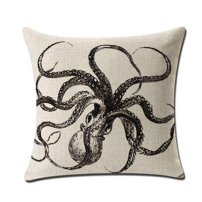 Squid Octopus Octopus Linen Sofa Pillow Case