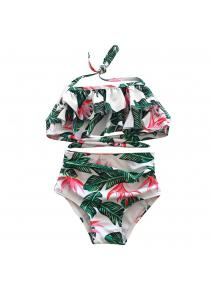 SleeWlM Mother-Daughter Swimwear Digital Printing High Waist Girl Style