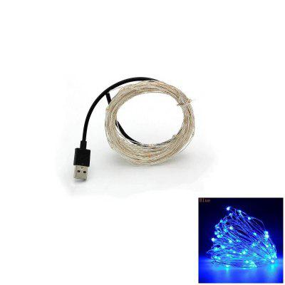 10M Silver Wire Strip Light Fairy Lights USB Slingers Kerstvakantie Bruiloft