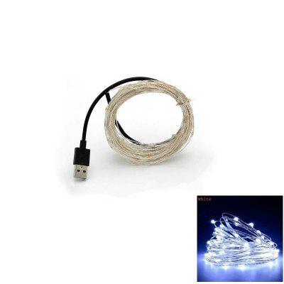 10M Silver Wire Strip Light Fairy Lights USB Garlands Christmas Holiday Wedding