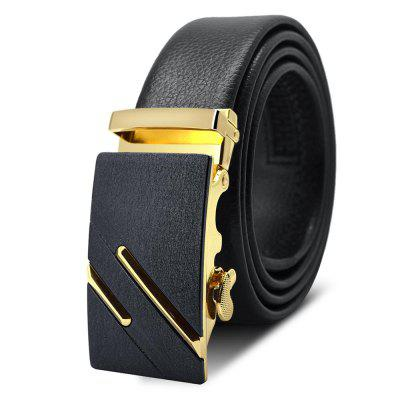 AC003A1007 Men'S Frosted Alloy Automatic Buckle Belt