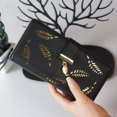 New Lady Fashion Hollowed-Out Leaves Money Clips
