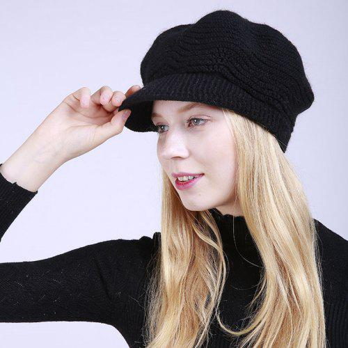 3f5c6d75add New Lady Fashion Solid with Warm Faux Fur Lining Sweater Soft Spring Winter  Hat -  16.09 Free Shipping