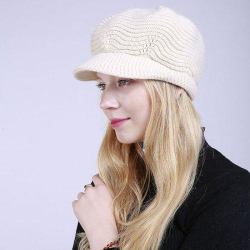 3d2e6bdd7d1 New Lady Fashion Solid with Warm Faux Fur Lining Sweater Soft Spring Winter  Hat