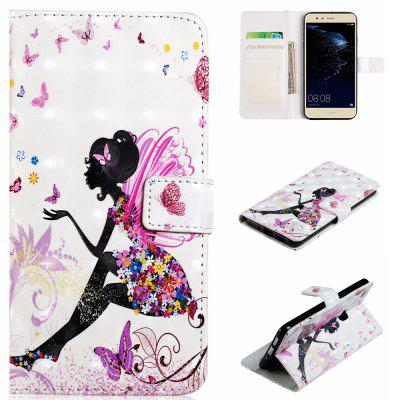 3D Vision PU Leather Wallet Case For Huawei P10 Lite Phone Cover With Card Slots