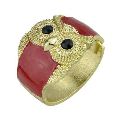 Fashion Red Oil Owl Bracelet