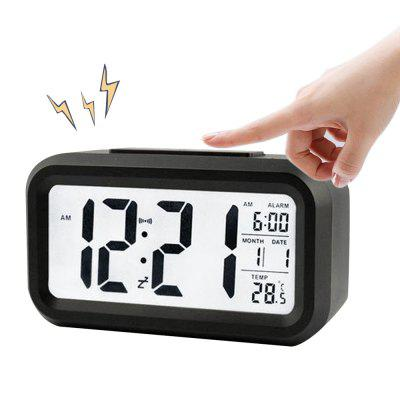 BRELONG Data temperaturii digitale a lunii afișează Snooze Clock Alarm Clock Night Light