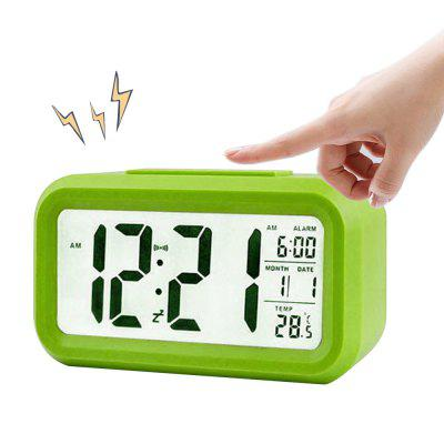 BRELONG Digital Month Temperature Date Shows Snooze Alarm Clock Night Light