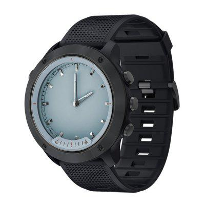 V6-M5 Transparent Screen IP68 Waterproof Luminous Heart Rate Monitor Smartwatch Image