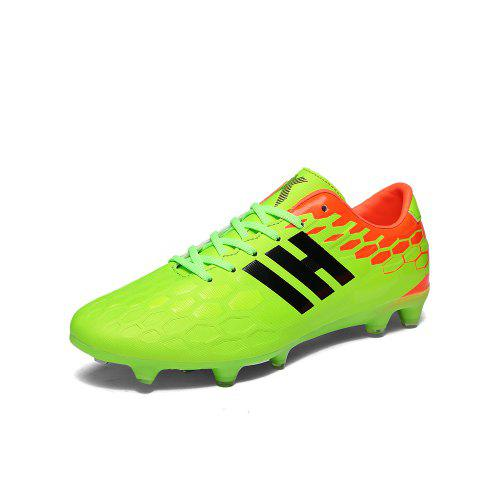 Youth Football Shoes Men and Women Adult Grass AG Spikes Leather Training  Shoes e11a05d95