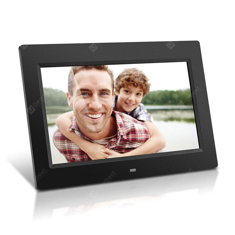 10.1 Inch Digital Photo Frame with Video Player Stereo MP3 Calendar Auto On/Off - NATURAL BLACK US PLUG (2-PIN)
