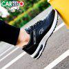 CARTELO Men Trendy PU Breathable Casual Sports Shoes - BLACK