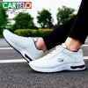 CARTELO Men Trendy PU Breathable Casual Sports Shoes - WHITE