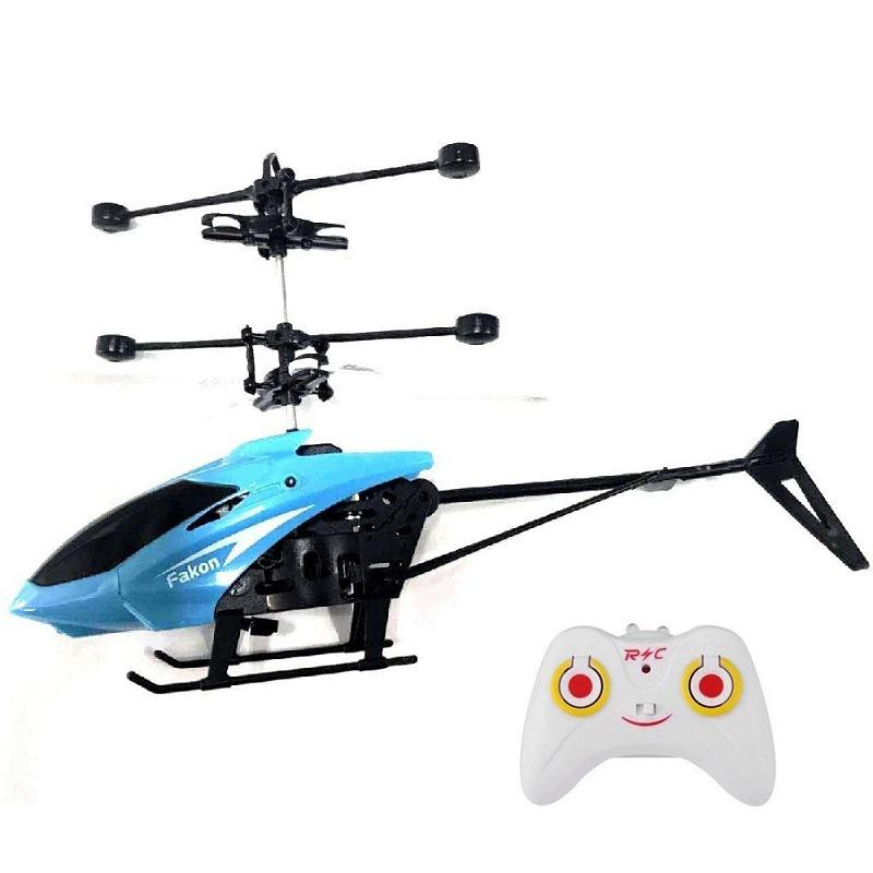 RC Hand Induction Flying Aircraft Helicopter Toys for Kids - Ocean Blue