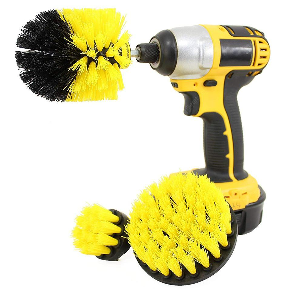 GOCOMMA 3-in-1 Electric Drill Brush Head - YELLOW