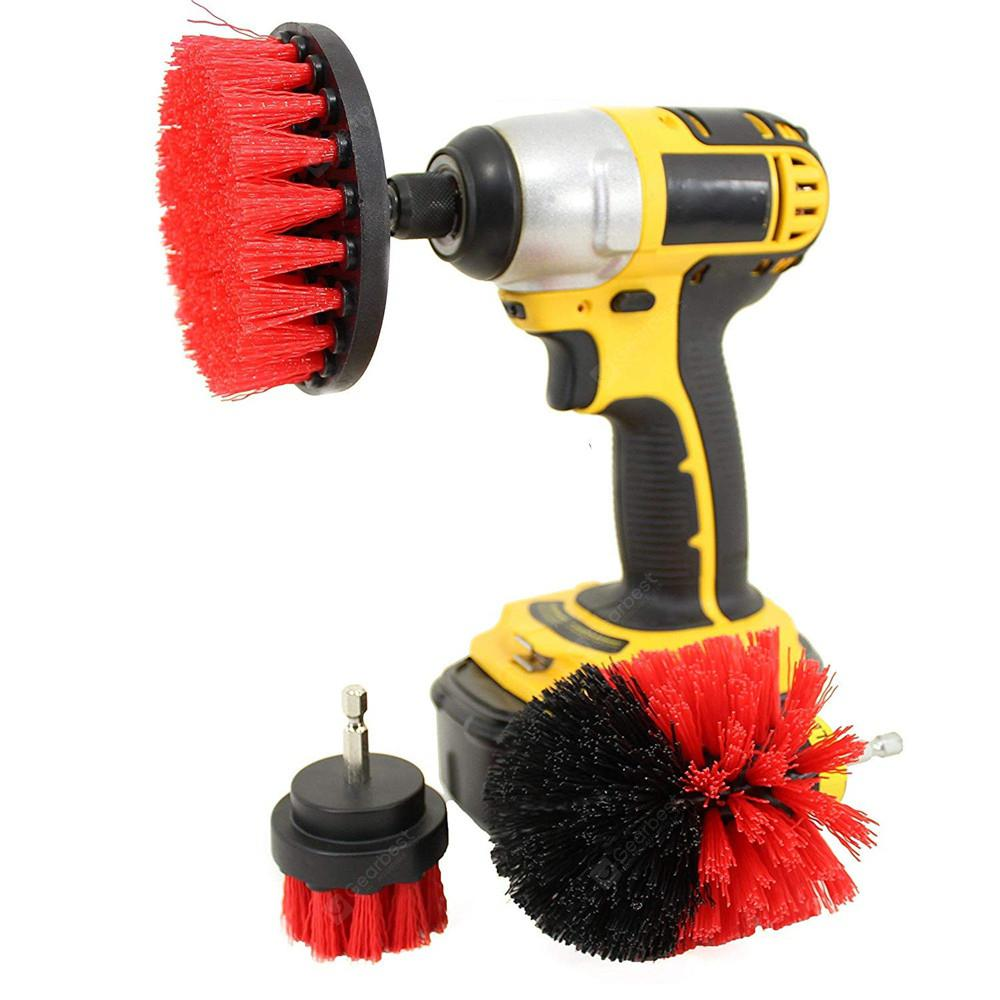 GOCOMMA 3-in-1 Electric Drill Brush Head - Red