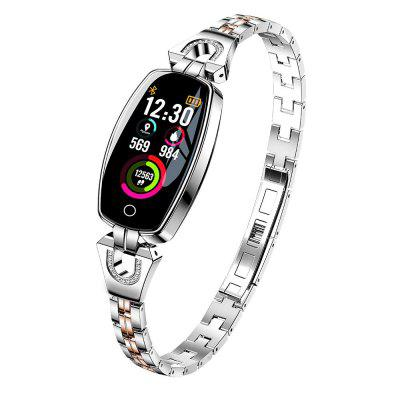 H8 Smart Watch Lady Fashion Smart Bracelet  Stainless Steel Strap Jewel Watch Image