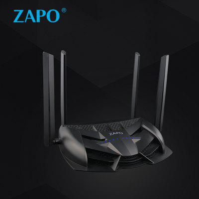 ZAPO WirelessRouter AC 1200MBPS Powerful Signal Dual-Band Wi-Fi Router