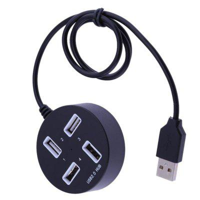 Port USB 2.0 Hub Multifonctions USB Splitter forme ronde 4 ports USB 2.0 Multi Hub