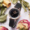 Xr3209 Women'S Quartz Watch Starry Rhinestone Fashion Mesh Belt Ladies Watch - BLACK