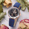 Xr3216 Female Quartz Watch Star Mirror PU with Ladies Watch - BLUE