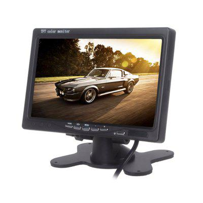 Car Monitor 7 Inch Bidirectional AV Input Auto Display For Rear View Camera