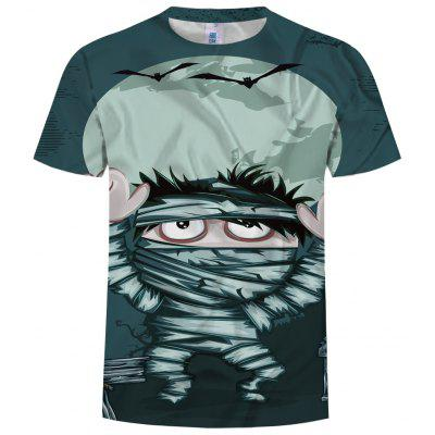 Fashion Men's New Personality Funny 3D Printing Short-Sleeved T-shirt