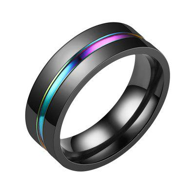 Unisex Stainless Steel Black Plated Mens Ring Wedding Band