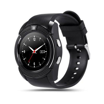 V8 Smart Watch  Bluetooth Clock With 0.3M Camera Smart Watch for Android Phone